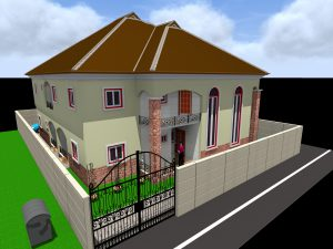 3 Dimensional Rendering of a Semi-Detached Duplex